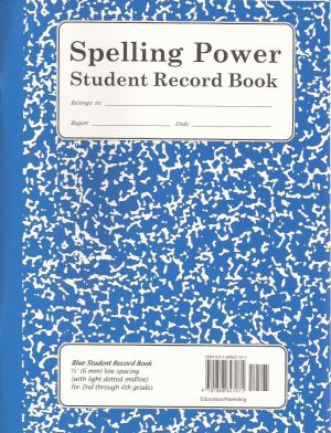 Blue Spelling Power Student Record Book