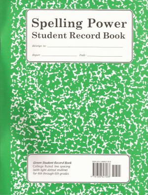 Green Spelling Power Student Record Book