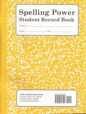 Yellow Spelling Power Student Record Book